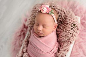 Pink newborn images mornington