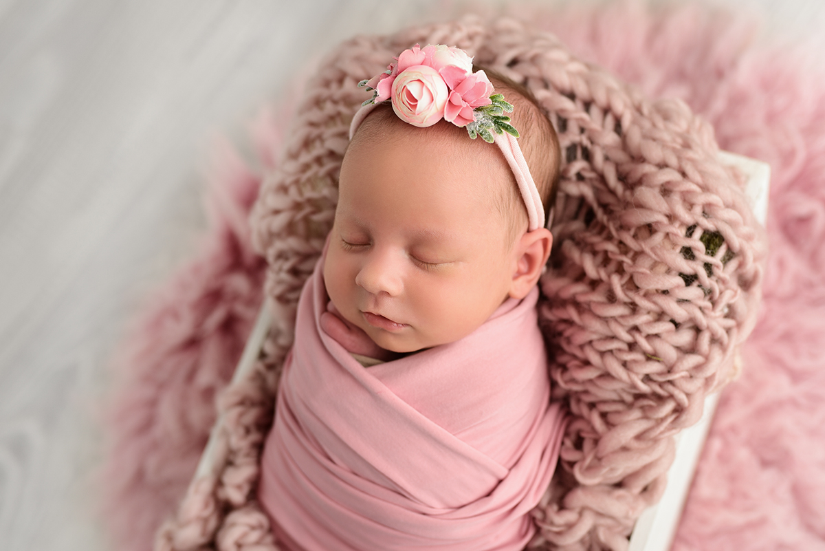 Pink newborn images mornington
