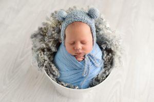 Blue newborn images mornington